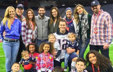 Tom Brady family football