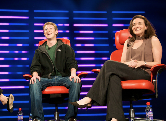 Sheryl Sandberg with mark