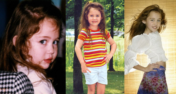 Miley Cyrus Childhood pictures