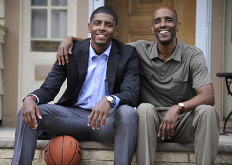 Kyrie Irving and his father Drederick Irving