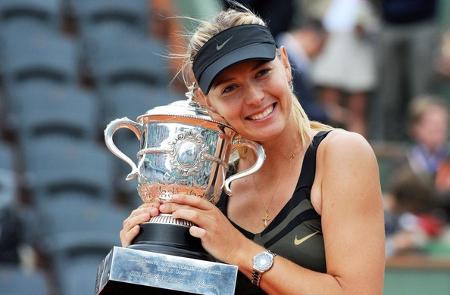 Maria Sharapova French Open trophy