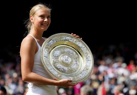 Maria Sharapova Wimbledon trophy