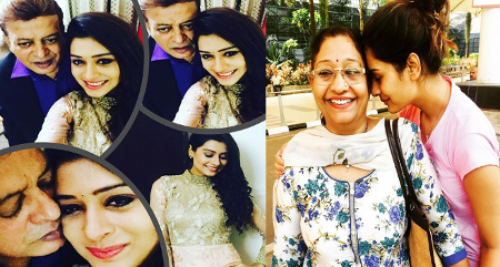 Payal Rajput With her parents
