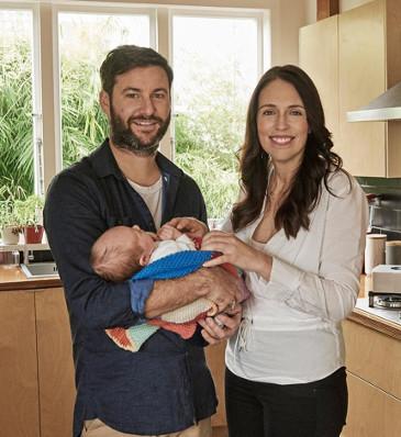 Jacinda Ardern husband gayford and daughter